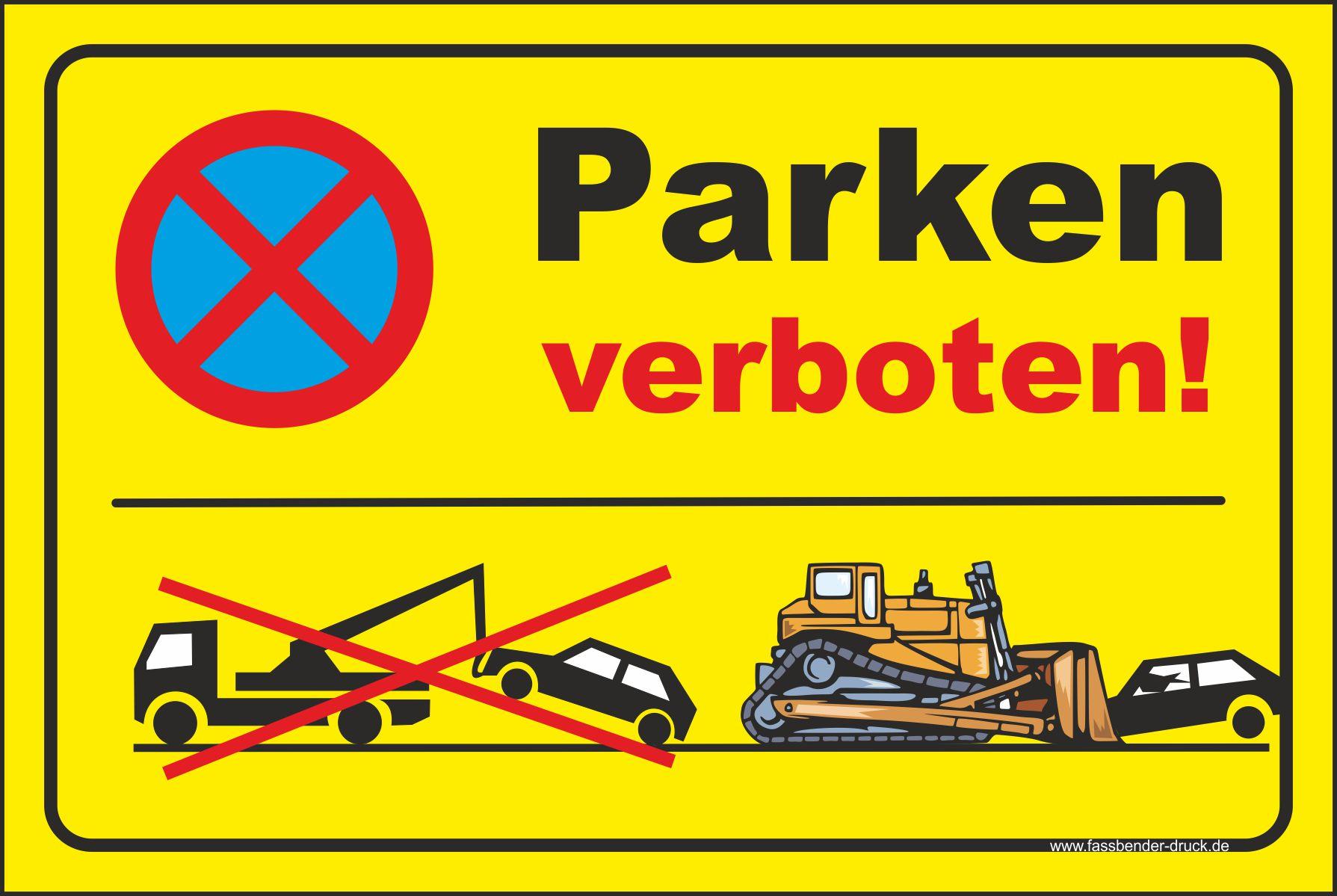 20x30cm parkverbot schild aufkleber parken verboten wir. Black Bedroom Furniture Sets. Home Design Ideas
