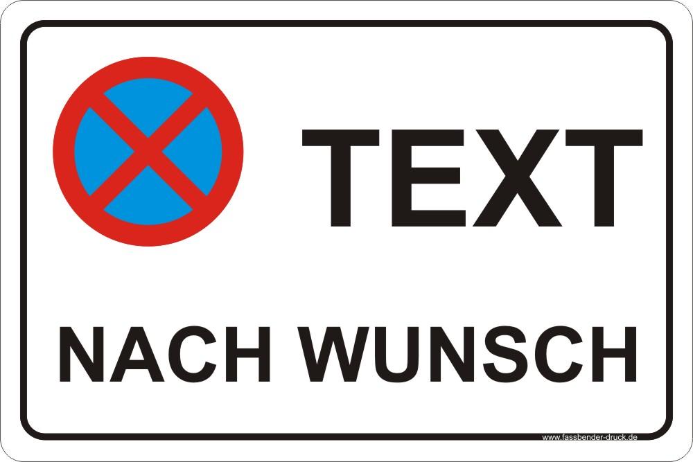 20x30cm parkverbot schild aufkleber parken verboten text nach wunsch ebay. Black Bedroom Furniture Sets. Home Design Ideas